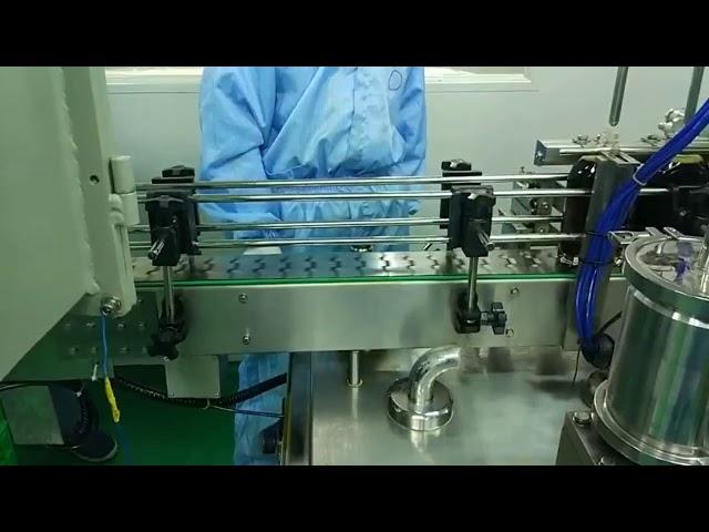30 مل إلى 100 مل ملء مزدوج المسار وآلة الشد للزجاجة المستديرة