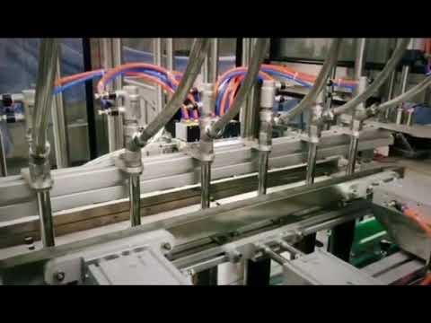 التلقائي المنظفات المكبس الخطي ، والشامبو ، وزيت التشحيم آلة تعبئة السائل اللزج