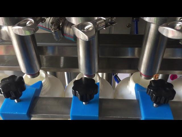 كامل مكبس الشامبو السائل زجاجة ملء آلة السعر التلقائي