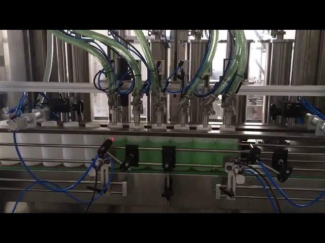 مكبس آلة تعبئة زجاجة الصابون السائل