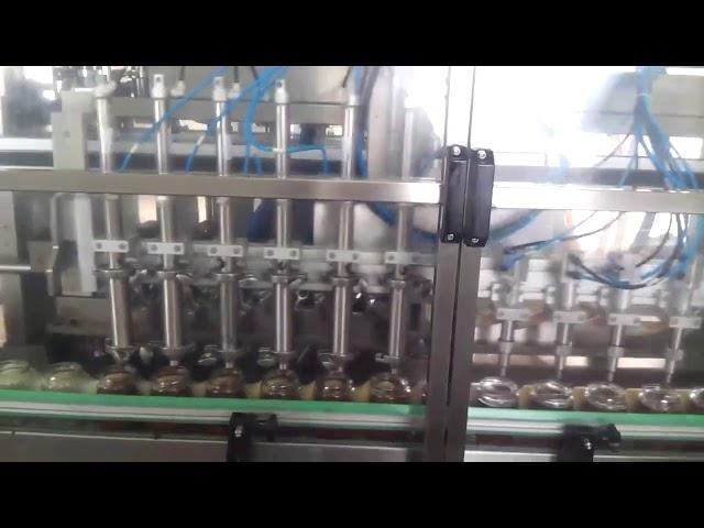 آليّة زجاجيّة عسل جرة زبادي تعبئة آلة ختم