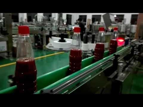 آلة تعبئة زجاجة أوتوماتيكية كاملة عالية السرعة للكاتشب والمربى والصلصة