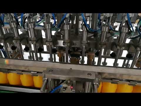 12 رأس آلة تعبئة الزجاجة الأوتوماتيكية لصلصة الكاتشب التجميلية