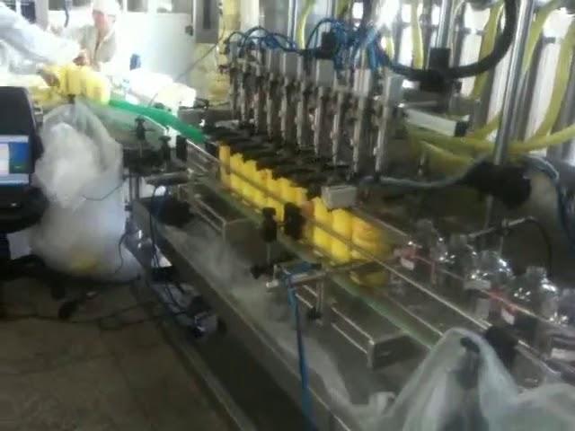 المكبس التلقائي فوهات الغوص الشامبو ملء آلة