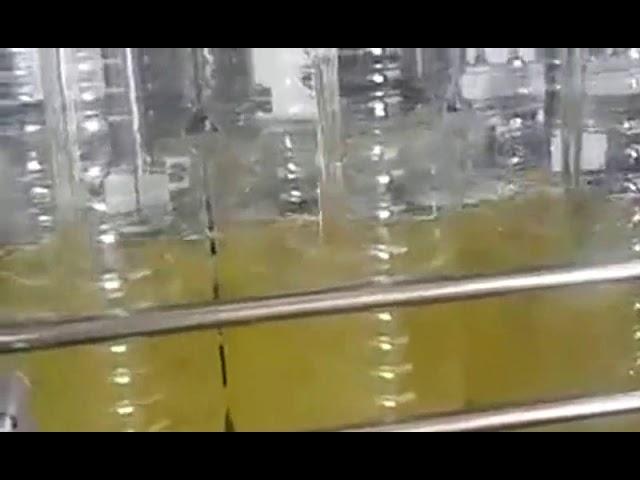 التلقائي زجاجة ملء آلة تعبئة زيت الطعام